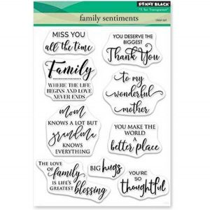 Penny Black Family Sentiments Stamp Set