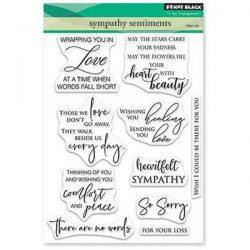 Penny Black Sympathy Sentiments Stamp Set