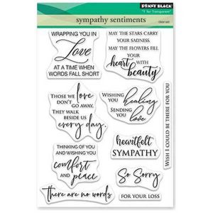 Penny Black Sympathy Sentiments Stamp Set