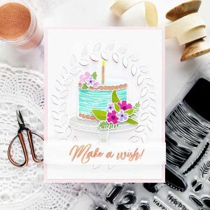 Pinkfresh Studio Make A Wish Stamp Set class=