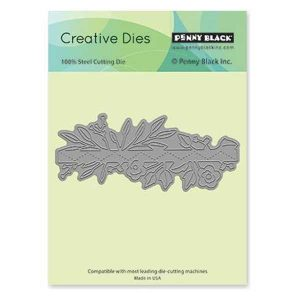 Penny Black Floral Strip Creative Die