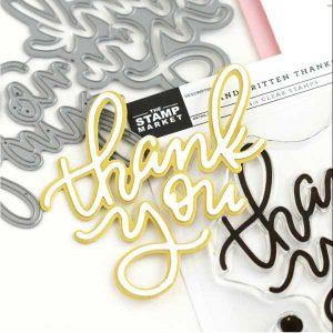 The Stamp Market Handwritten Thanks Dies class=