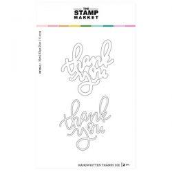 The Stamp Market Handwritten Thanks Dies