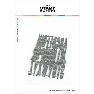 The Stamp Market Skinny Upper Alpha Die Set