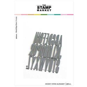The Stamp Market Skinny Upper Alpha Die Set