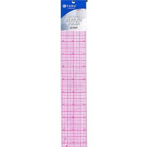 "Westcott 8ths Graph Beveled Transparent Ruler (2"" x 12"")"