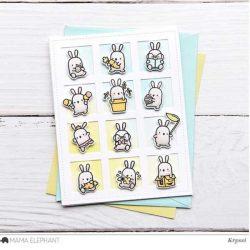 Hampton Art Mini Bunny Agenda Stamp & Die Set