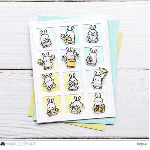 Hampton Art Mini Bunny Agenda Stamp & Die Set class=