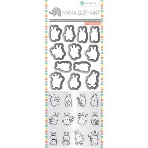 Hampton Art Mini Bunny Agenda Stamp & Die Set