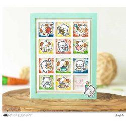Hampton Art Mini Dog Agenda Stamp & Die Set
