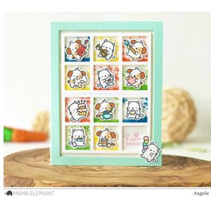 Hampton Art Mini Dog Agenda Stamp & Die Set class=