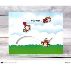 Hampton Art Mini Monkey Agenda Stamp & Die Set