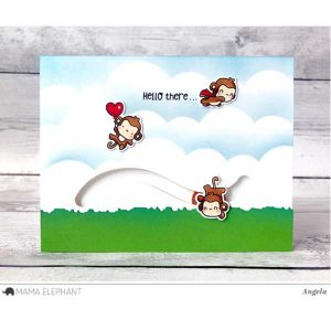 Hampton Art Mini Monkey Agenda Stamp & Die Set class=