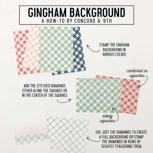 Concord & 9th Gingham Background Stamp Set class=