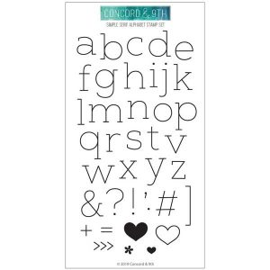 Concord & 9th Simple Serif Alphabet Stamp Set