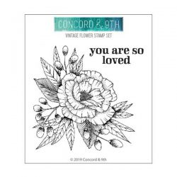 Concord & 9th Vintage Flower Stamp Set