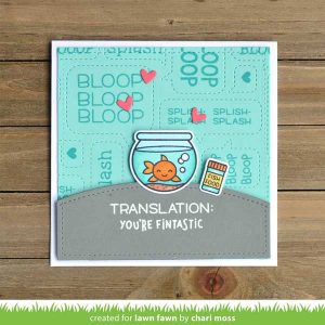 Lawn Fawn Keep On Swimming Stamp Set class=