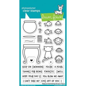 Lawn Fawn Keep On Swimming Stamp Set