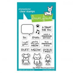 Lawn Fawn Say What? Stamp Set