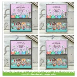 Lawn Fawn Reveal Wheel Friends & Family Sentiments Stamp Set