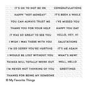 My Favorite Things Greetings & Salutations Stamp Set