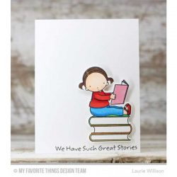 My Favorite Things PI Bookworm Stamp
