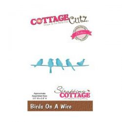 Cottage Cutz Birds on a Wire Die