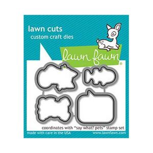 Lawn Fawn Say What? Pets Lawn Cuts