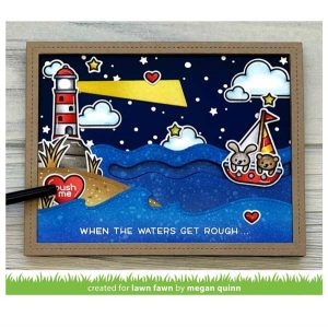 Lawn Fawn Stitched Simple Wavy Borders class=