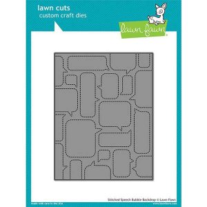 Lawn Fawn Stitched Speech Bubble Backdrop Lawn Cuts