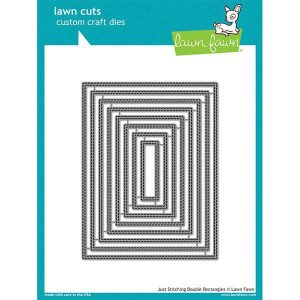 Lawn Fawn Just Stitching Double Rectangles Lawn Cuts