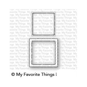 My Favorite Things Mini Square Shaker Window & Frame Die-namics