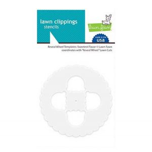 Lawn Fawn Reveal Wheel Template: Sweetest Flavor Stencil