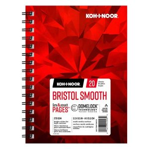 "Koh-I-Noor Bristol Smooth Bright White Paper Pad - 5.5""x8.5"""