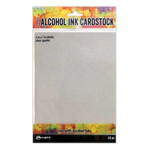 Tim Holtz Silver Sparkle Alcohol Ink Cardstock