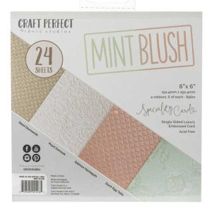 Tonic Studios Mint Blush Luxury Embossed Cardstock