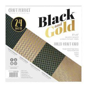 Tonic Studios Black & Gold Luxury Embossed Cardstock