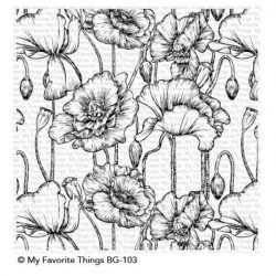 My Favorite Things Poppies Background Stamp