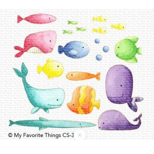 My Favorite Things Fish You Were Here Stamp Set class=