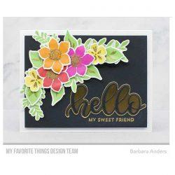 My Favorite Things Tropical Flowers Stamp Set