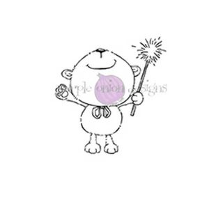 Purple Onion Designs Bubbly (bear with sparkler)