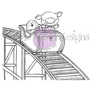 Purple Onion Designs Roller Coaster Stamp