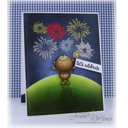 Purple Onion Designs Fireworks Stamp