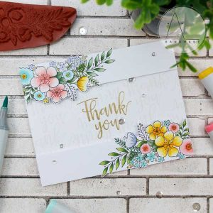 Purple Onion Designs Floral Spray Stamp class=
