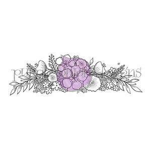 Purple Onion Designs Floral Spray Stamp