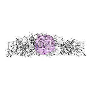 Purple Onion Designs Floral Spray Stamp