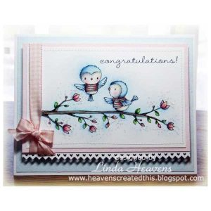 Purple Onion Designs Blossoming Perch Stamp class=