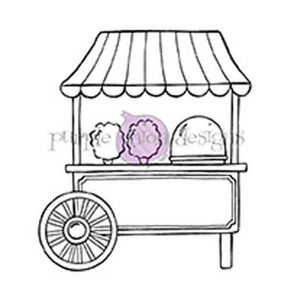 Purple Onion Designs Cotton Candy Cart Stamp
