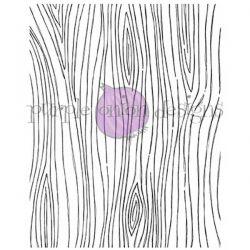 Purple Onion Designs Wood Grain Background Stamp