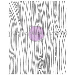 Purple Onion Designs Wood Grain Background Stamp